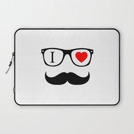 I Love Hipster Laptop Sleeve
