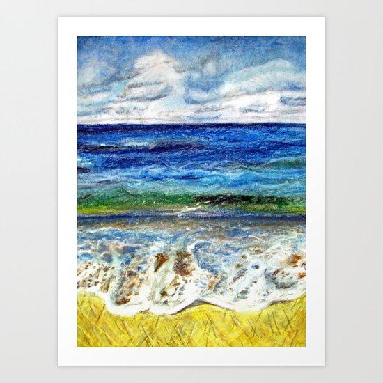 CRAYON LOVE - La mer Art Print