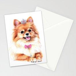 Pomeranian Princess Stationery Cards