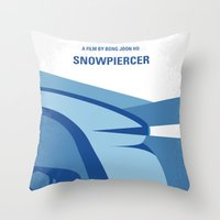 No767 My Snowpiercer minimal movie poster Throw Pillow