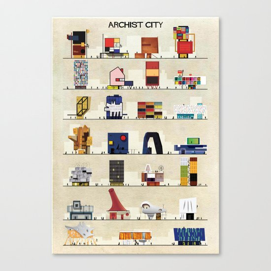 archist city Canvas Print