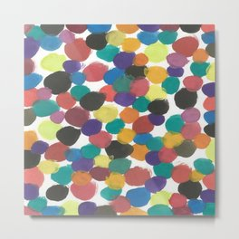 Colorful Painterly Spots Metal Print