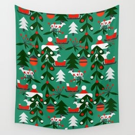 Christmas evergreens Wall Tapestry