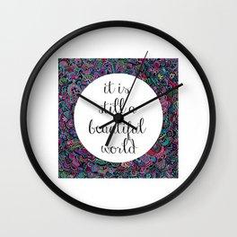A Beautiful World Wall Clock