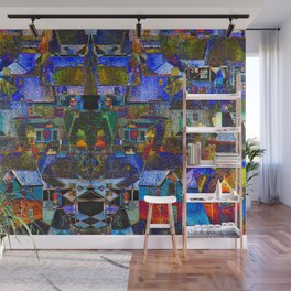 Town houses abstract Wall Mural