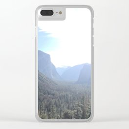 Panoramic Sunlit Yosemite Valley National Park Tunnel View Clear iPhone Case