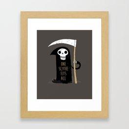 One Scythe Fits All Framed Art Print