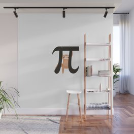 Sloth Funny Math Pun Pi Day Gift Math Science Lover Pi day Wall Mural