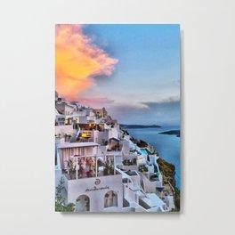 Santorini 8 Metal Print