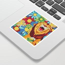 FlowerPower Lion Sticker