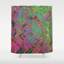 Abstracting Pink Shower Curtain