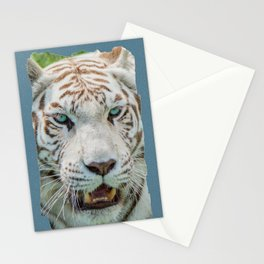 THE BEAUTY OF WHITE TIGERS Stationery Cards