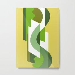 SUISSE - Art Deco Modern: GREEN SCENE Metal Print