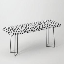 Dalmatian Spots (black/white) Bench