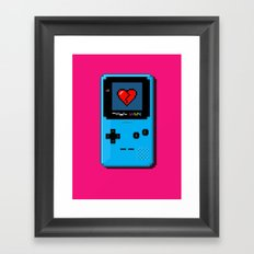 Don't Play With My Heart Framed Art Print