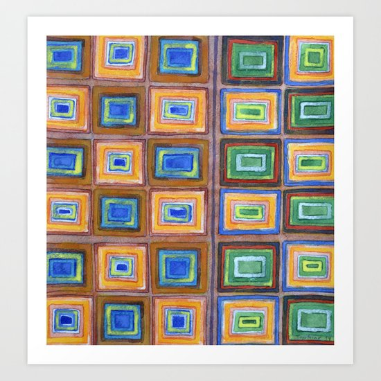 The two Sides of a Check Pattern Art Print