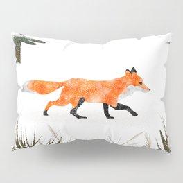 Fox In A Late Winter Snowfall Pillow Sham