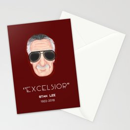 Excelsior Stan Lee Fan Art Print Stationery Cards