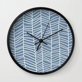 Baesic Herringbone (Denim) Wall Clock
