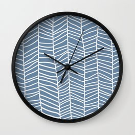 Baesic Herringbone (Denim) Wall Clock