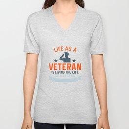 Veteran soldier war father gift Unisex V-Neck