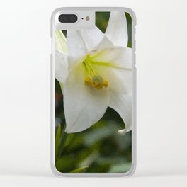 Floral Print 076 Clear iPhone Case