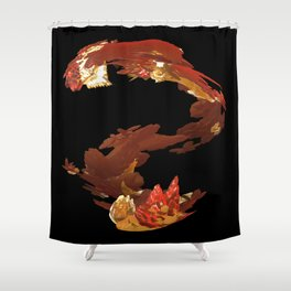 Spiral Flames Shower Curtain