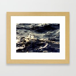 Colliding Seas Framed Art Print