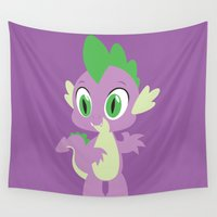 mlp Wall Tapestries featuring Spike by Adrian Mentus