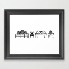 Tonet chairs Framed Art Print