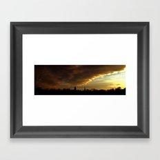 Notre Dame Skyline Panorama Framed Art Print