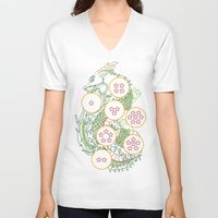 dbz V-neck T-shirts featuring DBZ- Shenron Linear Color by Li Boggs