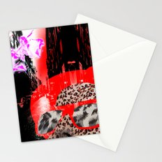 looking at a little pink city angel Stationery Cards
