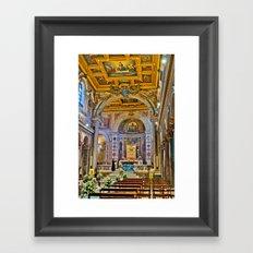 St. Bartholomew on the Island Basilica interior Framed Art Print