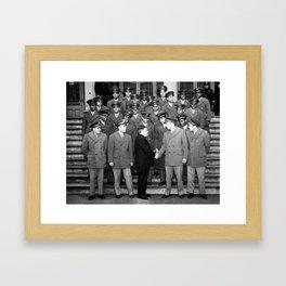 African American Navigation Cadets with Mayor La Guardia Framed Art Print