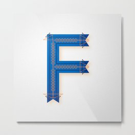 The Letter F Metal Print