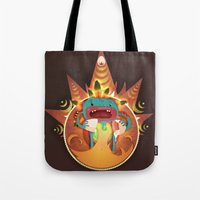 fifth element Tote Bags featuring Element by Miki  Company