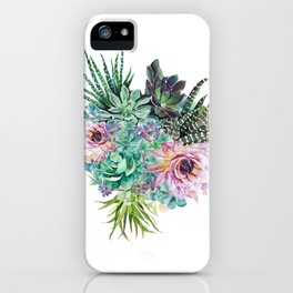 Succulent Bouquet iPhone Case