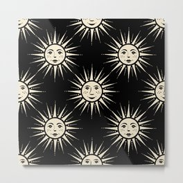 Freckled Suns - black and cream Metal Print