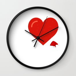I Heart Santa - Christmas Wall Clock
