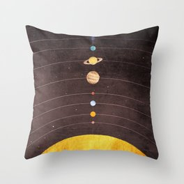 Solar System Throw Pillow
