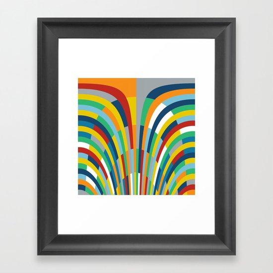 Rainbow Bricks #2 Framed Art Print