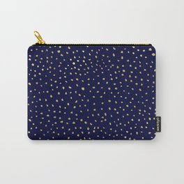 Dotted Gold & Midnight Carry-All Pouch