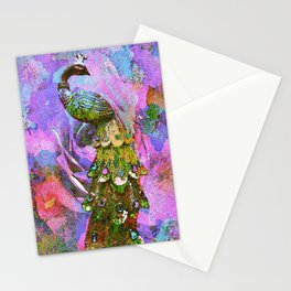 Peacock Watercolor Stationery Cards