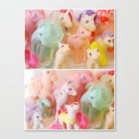 my little pony Canvas Prints featuring my little pony by lesley110688