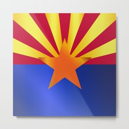 Arizona State Flag Gloss Metal Print