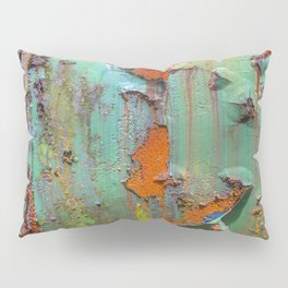 Flaking Paint on Rust Pillow Sham