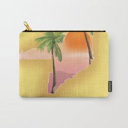 Miami Florida Vacation poster. Carry-All Pouch