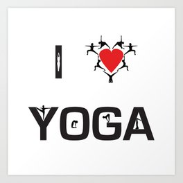I heart Yoga Art Print