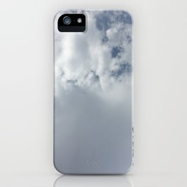 Clouds over the mountain iPhone Case